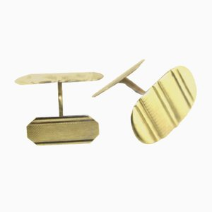 Silver Gold-Plated Cufflinks, 1960s, Set of 2