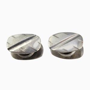 Silver Cufflinks, 1960s, Set of 2