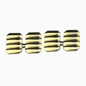 Vergoldete Silber Manschettenknöpfe, 1960er, 2er Set