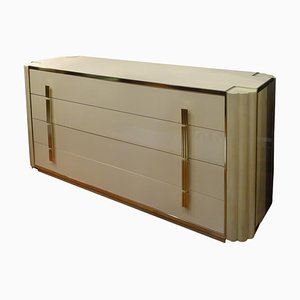 Vintage Off-White Chest of Drawers by Alain Delon for Maison Jansen