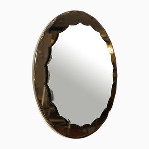 Vintage Italian Bronze Mirror from Cristal Art, 1960s