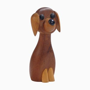 Danish Wooden Dog by Kay Bojesen for Laurids Lonborg, 1960s