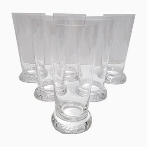 French Crystal Orangeade Glasses from Daum, 1970s, Set of 6