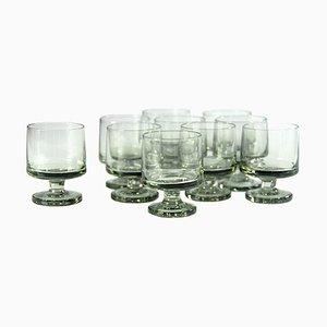 Danish Stub Shot Glasses by Grethe Meyer & Ibi Trier Mørch for Holmegaard, 1960s, Set of 10