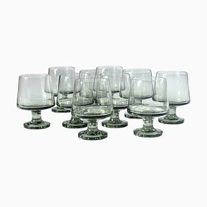 Danish Stub Glasses by Grethe Meyer & Ibi Trier Mørch for Holmegaard, 1960s, Set of 10