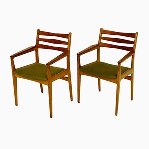 Danish Teak and Oak Desk Chairs from Slagelse Møbelværk, 1960s, Set of 2