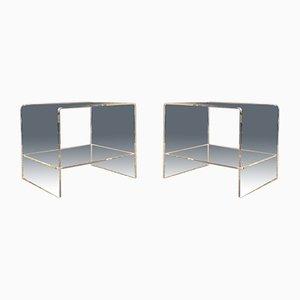 Plexiglass Side Tables, 1960s, Set of 2