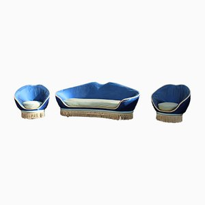 Living Room Set by Federico Munari, 1950s, Set of 3