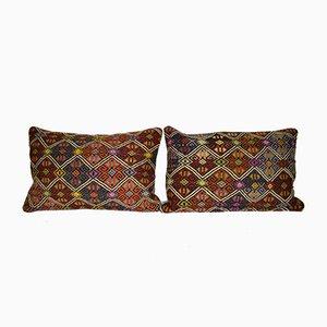 Turkish Jajim Cushion Covers, Set of 2