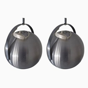 Adjustable Space Age Ceiling Lamps, 1960s, Set of 2