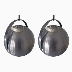 Anpassbare Space Age Deckenlampen, 1960er, 2er Set