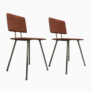Mid-Century German Industrial Bauhaus Side Chairs from Hailo, Set of 2