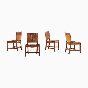 Chaises de Salon 3758 par Kaare Klint, 1930s, Set de 4