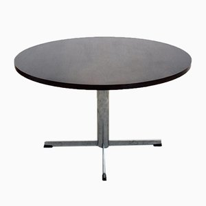 Round Pastoe Rosewood Dining Table by Cees Braakman