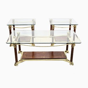 Hollywood Regency Side or Coffee Tables, 1970s, Set of 3
