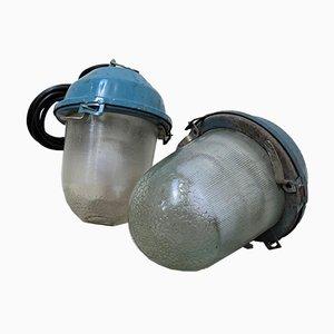 Ukrainische Vintage Mining Lampe