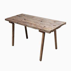 Tavolo da macellaio transilvanico antico