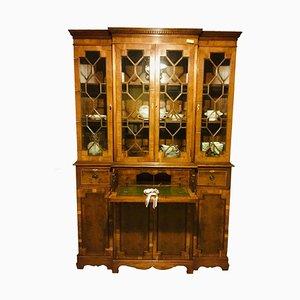 Antique Inlaid Yew Wood Bureau Bookcase
