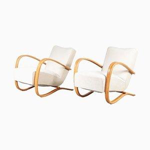 Czech Lounge Chairs by Jindrich Halabala, 1930, Set of 2