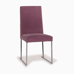 Lilac Velvet Lounge Chair by Antonio Citterio for B&B Italia