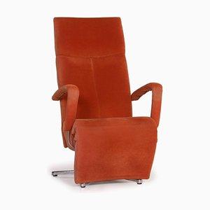 Orange Alcantara Armchair from Ewald Schillig