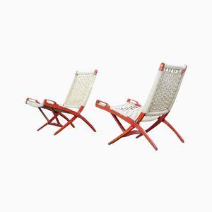 English Folding Chairs by Ebert Wels, Set of 2