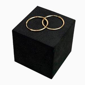 Orecchini a cerchio in oro 14 carati