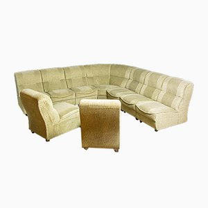 Vintage Modular Corner Sofa with Armchairs, 1970s, Set of 3