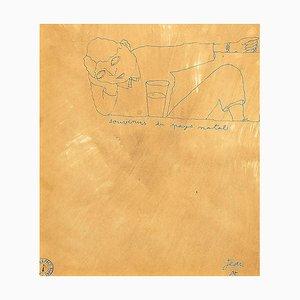 Jean Cocteau, Memories du Pays Natal, Tuschezeichnung, 1920er