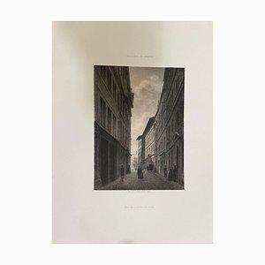 Antonio Fontanesi, From Street to Hotel De Ville, Lithografie, 19. Jahrhundert