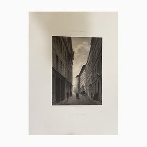 Antonio Fontanesi, From Street to Hotel De Ville, Lithograph, 19th Century
