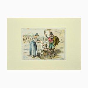 Bartolomeo Pinelli, Roman Costume, Etching, 1819
