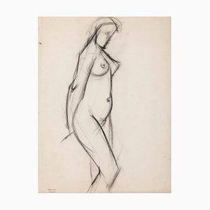 Jacques Arland, Nude, Drawing In Pencil, 1920