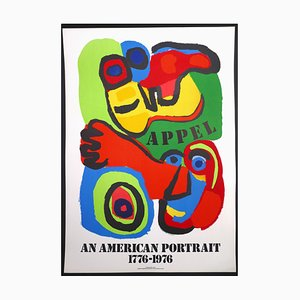 Karel Appel, An American Portrait, Lithographic Poster, 1975