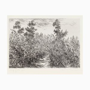 Paulette Humbert, Landschaft, Radierung, 20. Jahrhundert