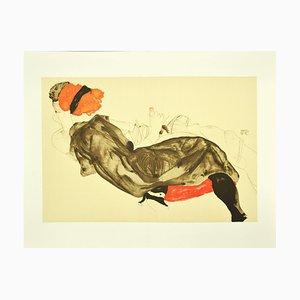 Egon Schiele, Reclining Couple, Lithograph, 2000s