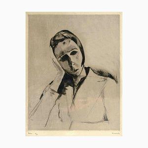 Pierre Guastalla, Portrait, Etching, 20th Century