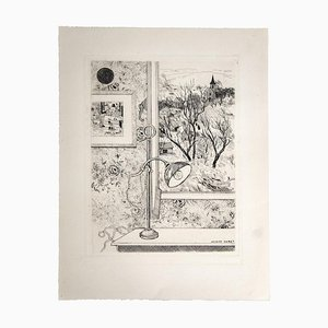 Jacques Maret, Windows View, Etching, 20th Century