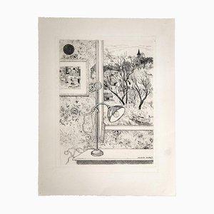 Jacques Maret, Windows View, Radierung, 20. Jahrhundert