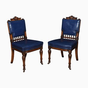 Bürostühle aus Leder, 2er Set