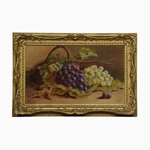 T.J. George, Still Life of Grapes, Oil on Canvas