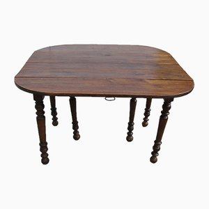 Antique Table With Extendable Legs