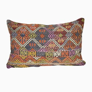 Vintage Turkish Jajim Kilim Cushion Cover