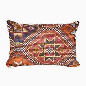 Handmade Striped Turkish Lumbar Cushion Cover