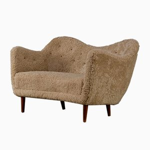 Model BO-55 Sheepskin Settee by Finn Juhl for Bovirke, 1940s