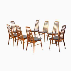 Chaises de Salon Eva par Niels Koefoed pour Hornslet, 1964, Set de 8