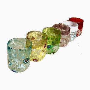 Italienische Vintage Murano Wassergläser von Maryana Iskra für Ribes, 2000er, 6er Set