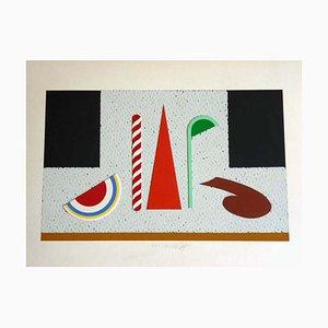 Lucio Del Pezzo, Screen Print & Collage, 1980s