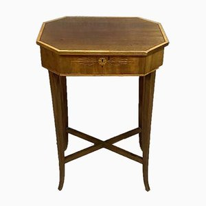 Charles X Inlaid Wood Work Table