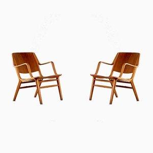 Dänische Axe Chairs von Peter Hvidt & Orla Mølgaard Nielsen, 1950er, 2er Set
